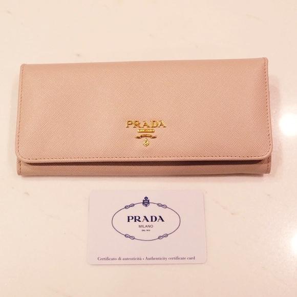 ebcd761462b996 Prada Bags | Cipria Leather Long Continental Wallet | Poshmark